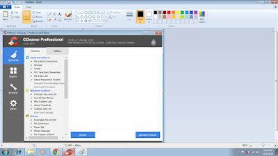 Buka Paint, kemudian Copy (Ctrl + V), jika sudah Save hasil screenshootnya