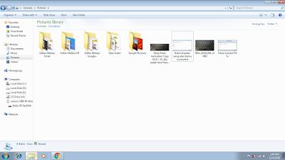 Buka tampilan yang akan kamu screenshot (1)